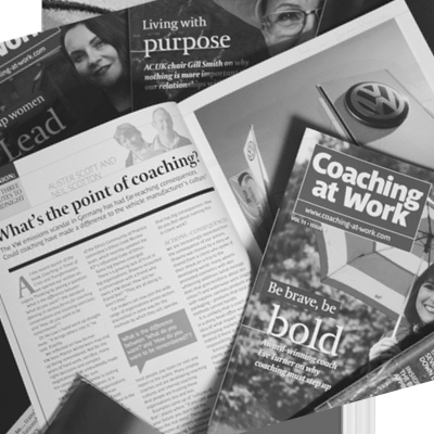 Coaching at work magazine collage